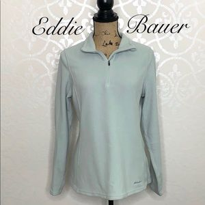 EDDIE BAUER MEDIUM AQUA FLEECE PULLOVER
